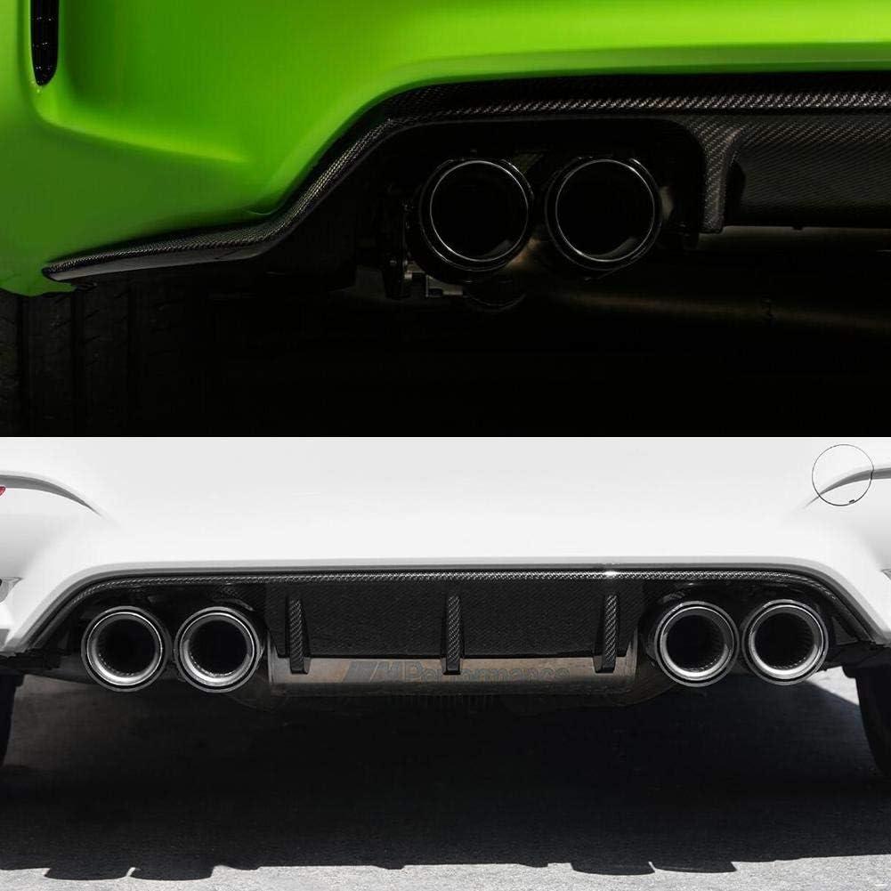 Tuyau d/échappement de voiture Akozon accessoire de modification de voiture pour embout de tuyau d/échappement en fibre de carbone v/éritable en acier pour M2 M3 M4 70-93-120mm noir brillant