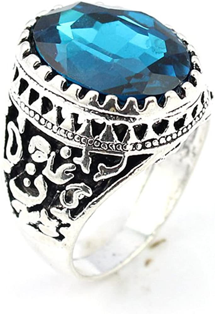BEST QUALITY BLUE TOPAZ FASHION JEWELRY .925 SILVER PLATED RING 11 S23063