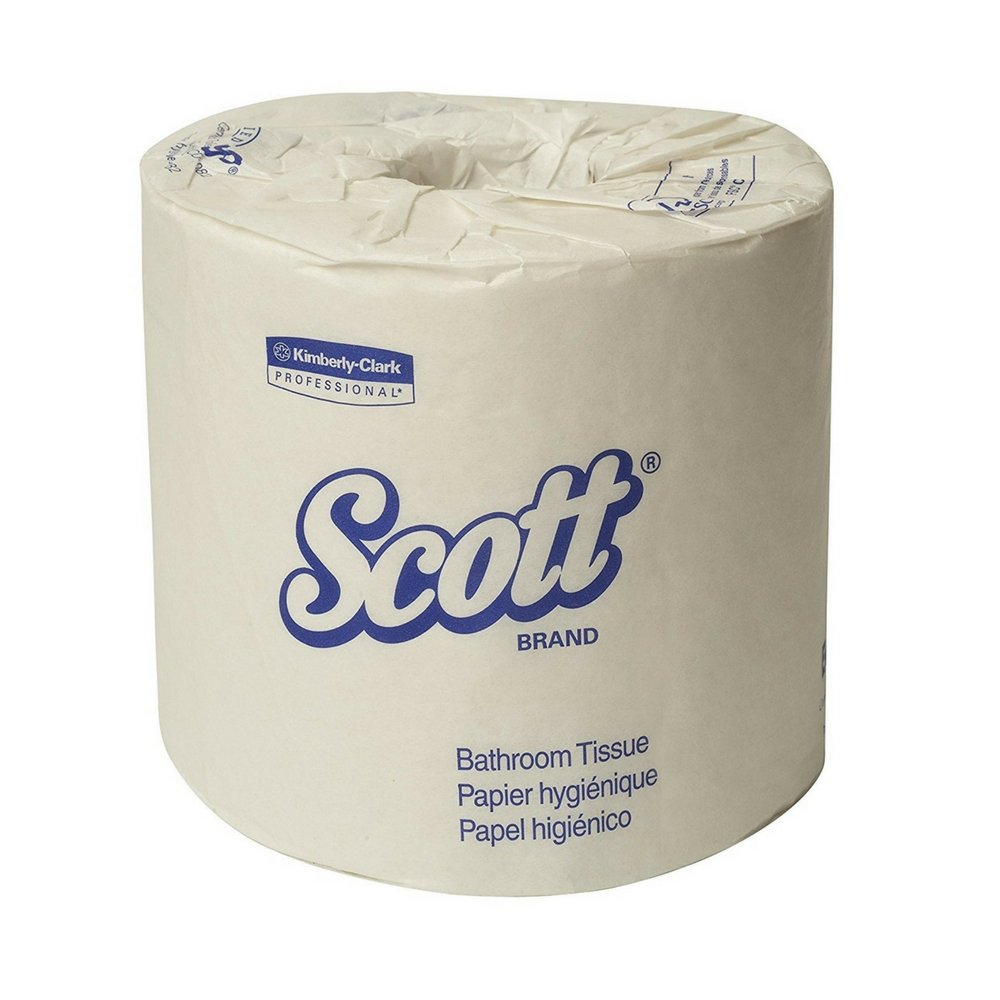 Scott Essential Professional Bulk Toilet Paper for Business (42108), Individually Wrapped Standard Rolls, 2-PLY, White, 80 Rolls/Case, 550 Sheets/Roll