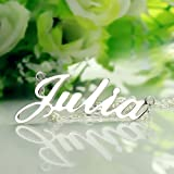 Custom Name Pendant Necklace Personalized Silver