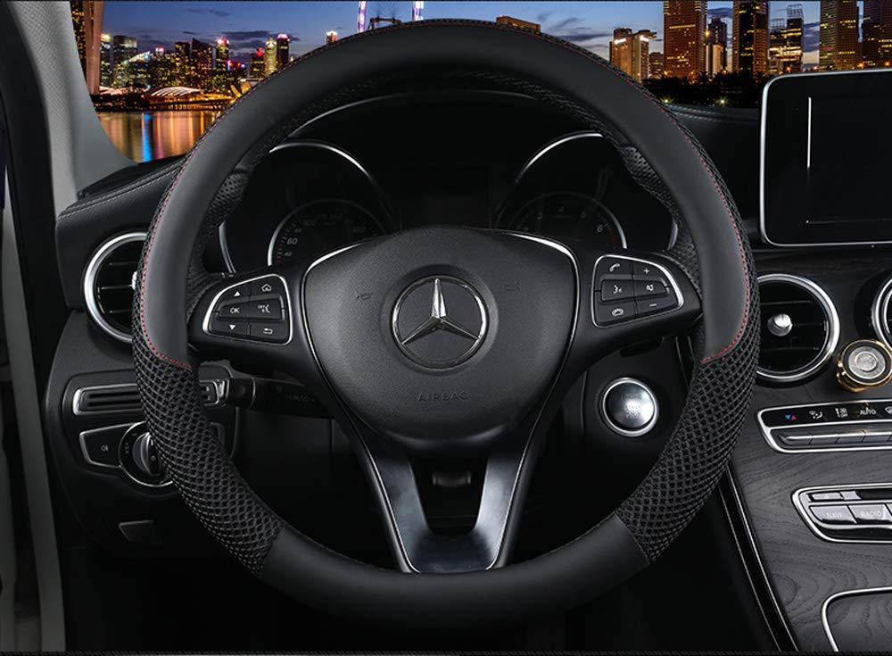 C-Beige Cxtiy Universal Car Steering Wheel Cover Cool for Summer Warm for Winter Steering Wheel Cover Fit Most of Cars SUV Auto Vehicle