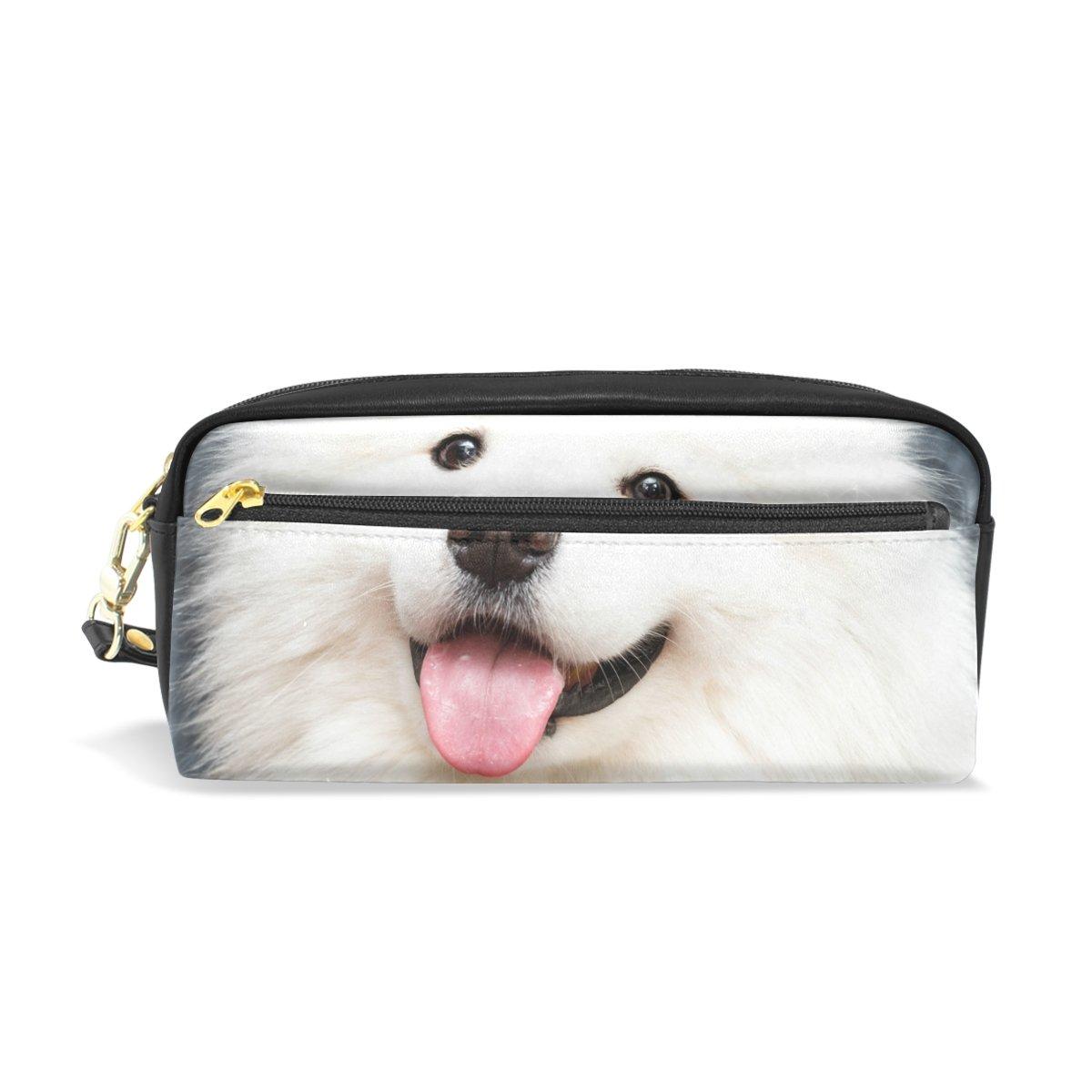 最適な材料 Colourlife鉛筆ケースSamoyed Dog Dog At At Homeレザーポーチバッグメイクアップコスメティックバッグ B07DXM8BP4 B07DXM8BP4, リサイクル通販 スリフティ:8fc4bc63 --- svecha37.ru