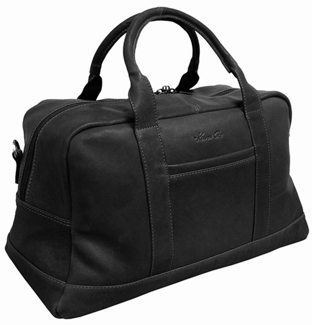 Kenneth Cole New York Leather 20'' Top-Zip Duffel (Black) by Kenneth Cole (Image #1)