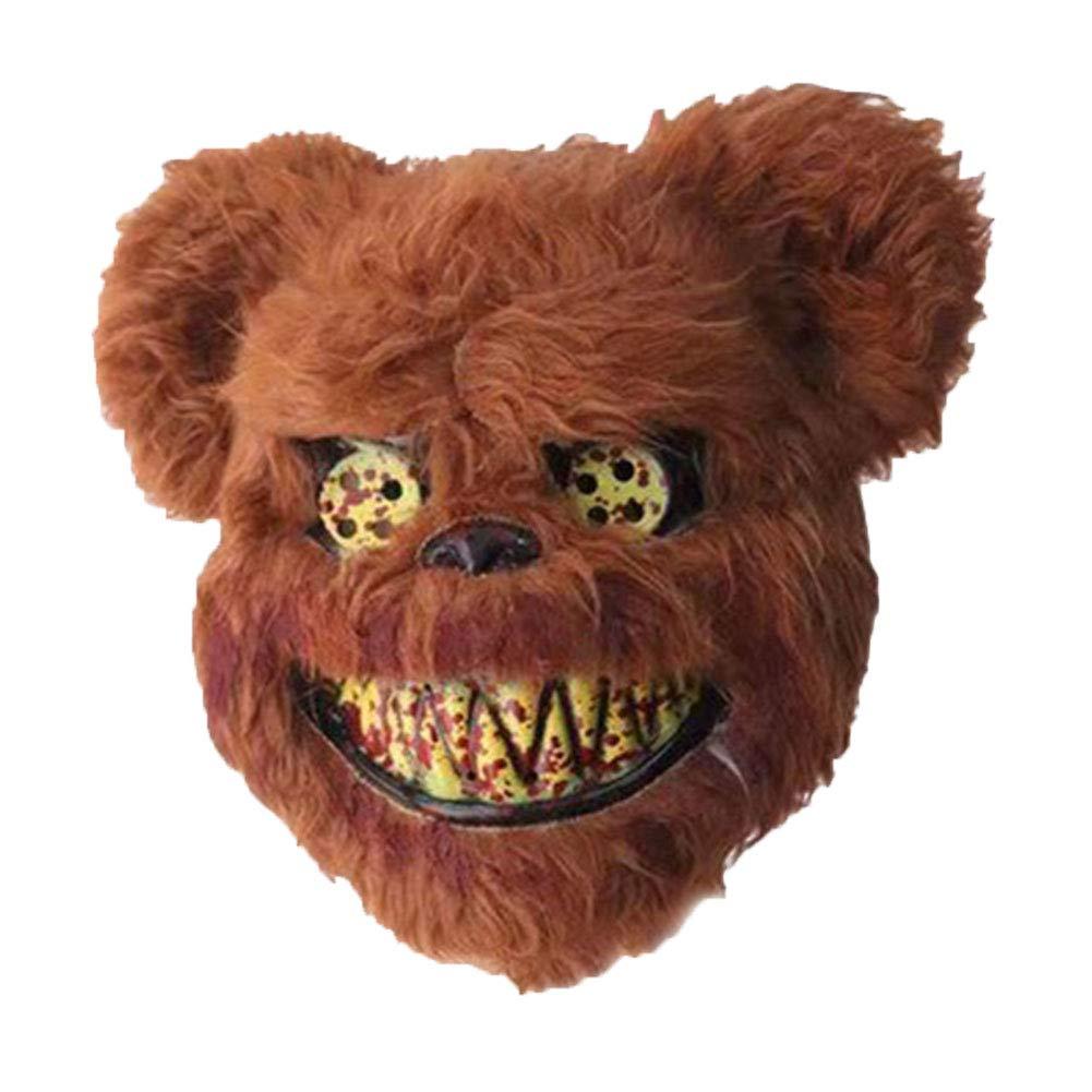 Scary Animal Halloween Masks.Koqwez33 Halloween Scary Animal Head Mask Plush Bloody Bear Rabbit Creepy Scary Full Mask Halloween Party Decoration Masquerade Costume Props Temperature Humidity Thermometers Femsa Com