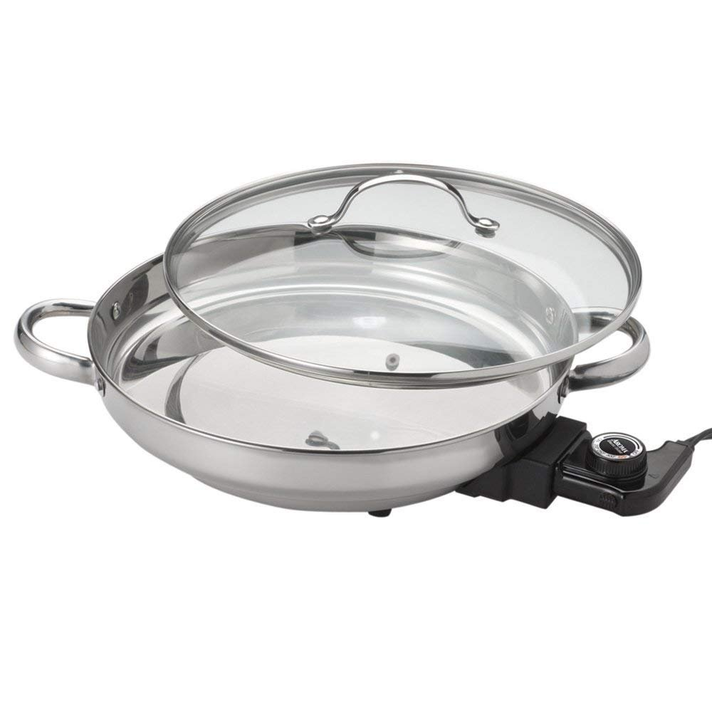 [Aroma Housewares][AFP-1600S グルメシリーズステンレス電気スキーレットGourmet Series Stainless Steel Electric Skillet](並行輸入品) One Size One Color B07DXHG1P4