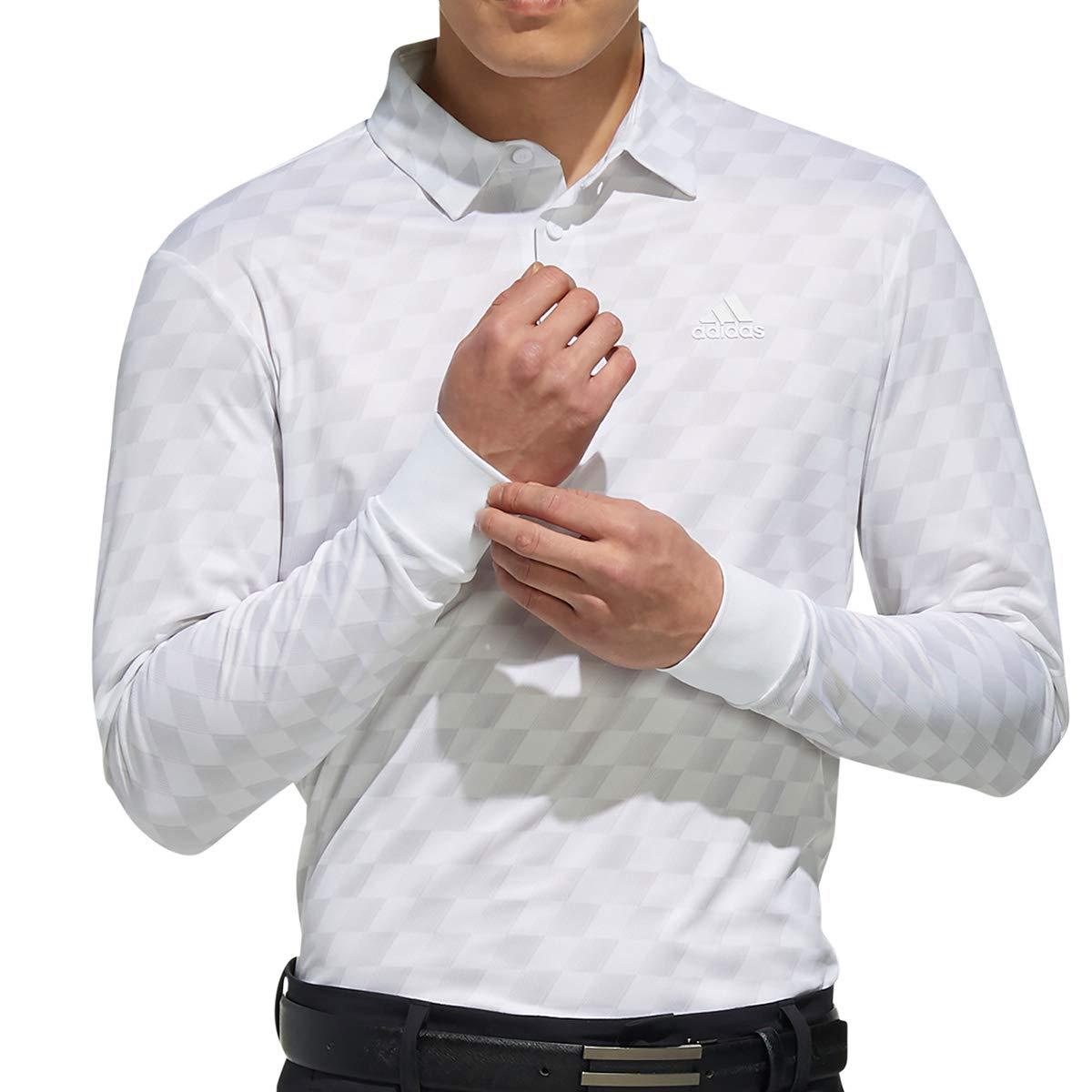 [アディダスゴルフ] チェックプリント 長袖シャツ メンズ FYO94 ホワイト 日本 S (日本サイズS相当)