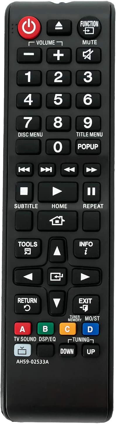 AH59-02533A Replacement Remote Control fit for Samsung Blu-ray Home Theater System HT-J4530 HT-J5550W HT-H5500W HT-J4200 HT-J4550 HT-H4500 HT-HM55 HT-J4500 HT-J5500 HT-J5500W HT-J4500 HT-J4100 HT-JM41