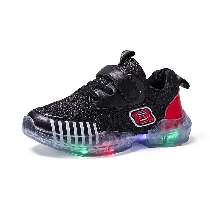 size 40 7b30b 5a2bd Kinder LED Schuhe Mädchen Jungen Leuchten Sportschuhe Unisex Kinder  Turnschuhe Licht LED Sneaker Heligen Blinkt Leuchtschuhe Blinkende  Kinderschuhe ...