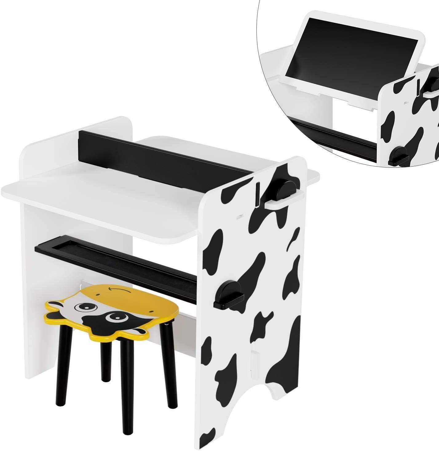per Stanza del Bambino 60 x 60 x 60 cm HOMECHO Set Tavolino Bambini Scrivania da Pittura Scuola Materna e Studio Set Composto da Tavolo per Bambini con 1 Sedie