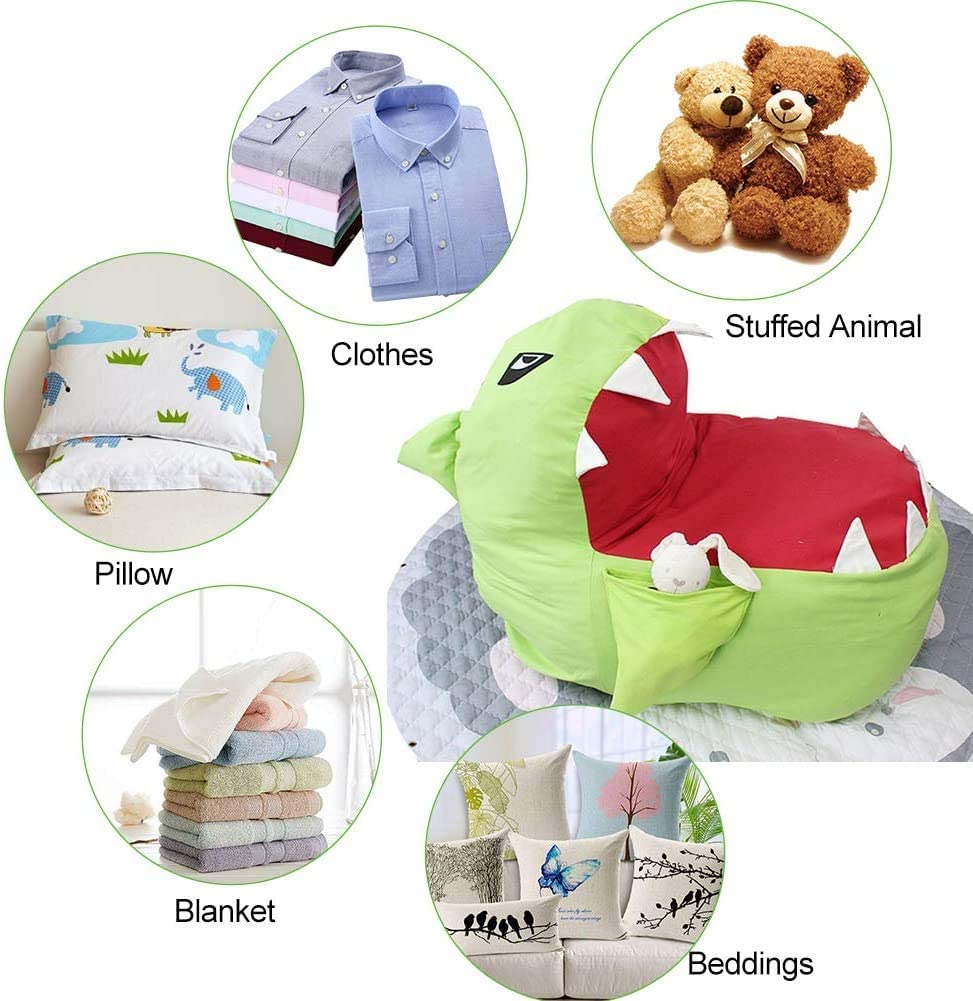 Ideal Gift for Boys And Girls Large Toy Storage Bean Bag Childrens Bean Bag Chair Bottom Zippered Stuffed Animal Toy Storage Bag Chair Bean Bag Chair Cover