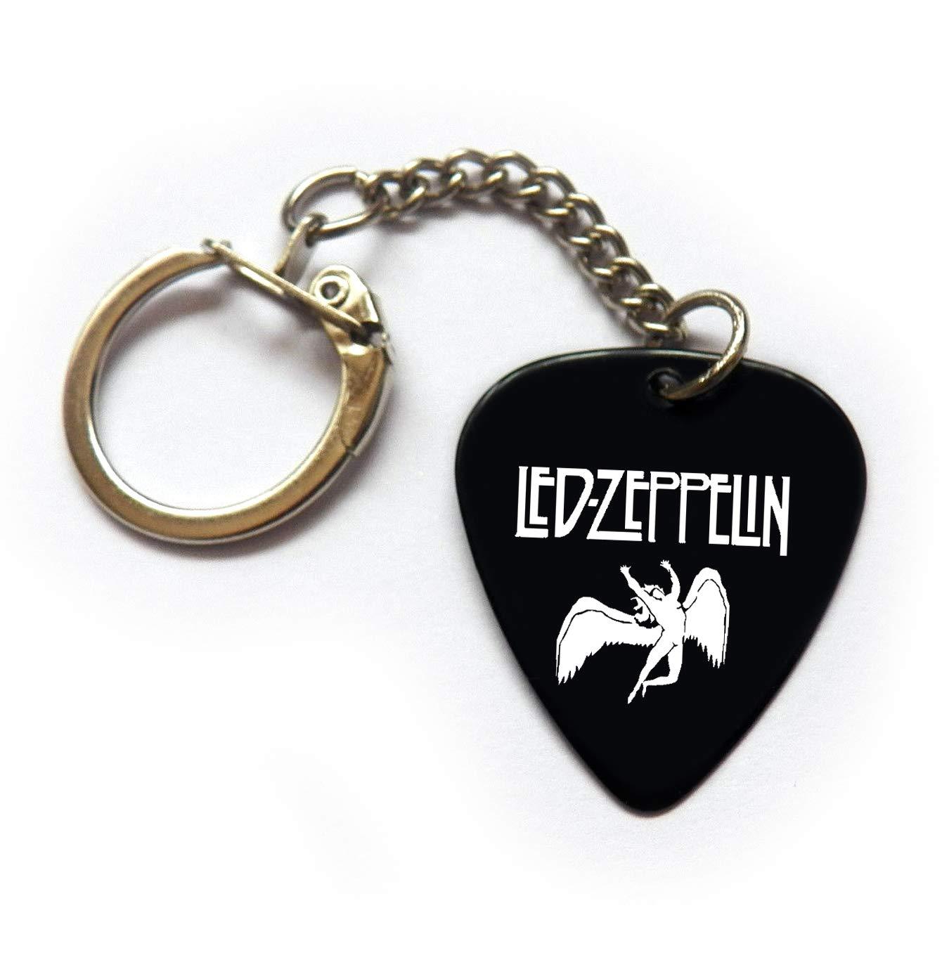 Portachiavi con plettro per chitarra Led//Zeppelin BW