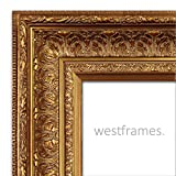 West Frames Elegance Ornate Embossed Wood Picture Frame (36'' x 48'', Antique Gold)
