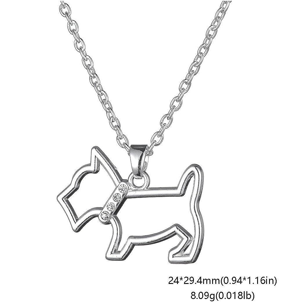 Lemegeton Pendentif en cristal mignon creux Chien Scottish Terrier Animal Cadeau pour amoureux des chiens