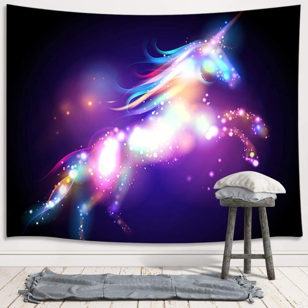 colourful-unicorn-wall-tapestry