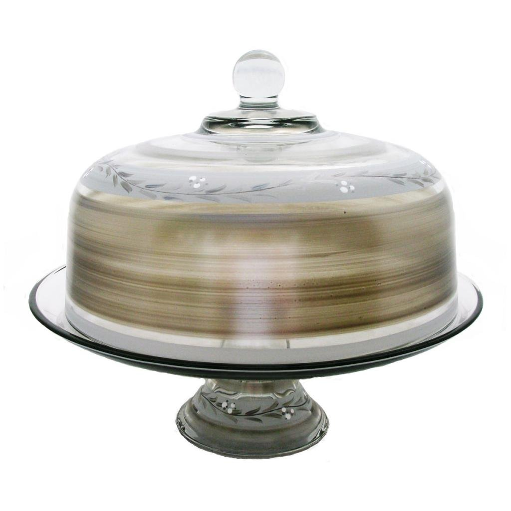 Golden Hill Studio Cake Dome Hand Painted in the USA by American Artists-Pewter Vine Collection by Golden Hill Studio