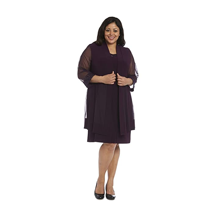 15d7248a433 R M Richards Mother of the Bride Short Dress Plus Size Formal with Jacket   Amazon.ca  Clothing   Accessories