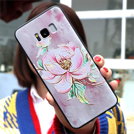 Amazon.com: KCHHA Phone case 3D Flower TPU Cases for Samsung ...