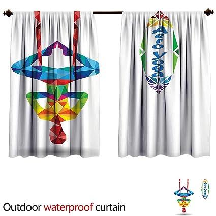 Amazon.com: BlountDecor Yogasun Block Outdoor Curtain W55 x ...