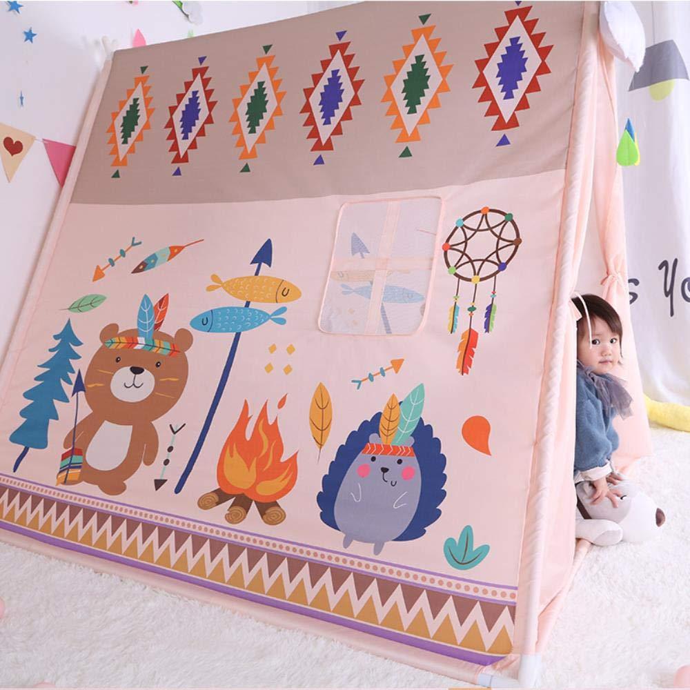 Juguetes y Juegos Infantiles Personalizados para ni/ños PAIZEP Tienda de campa/ña para ni/ños Lienzo casa de Princesa India