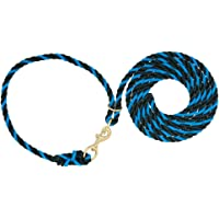 Weaver Leather Livestock Adjustable Poly Neck Rope, Hurricane Blue/Black