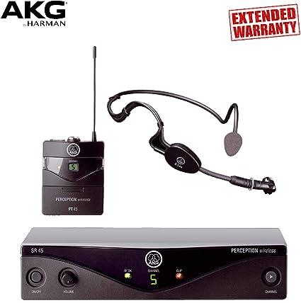 New AKG Perception Wireless Sports Set Band A SR45, PT45 /& C 544 L Mic
