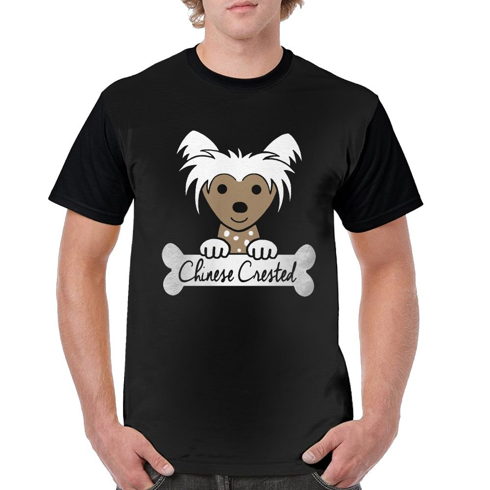 Chinese Crested Dog All Printing Picture Raglan Tshirt Custom Short Sleeves for Men Go Out and Exercise