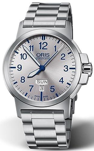 Oris Reloj de hombre automático 42mm correa de acero 01 735 7641 4161-MB: Oris: Amazon.es: Relojes