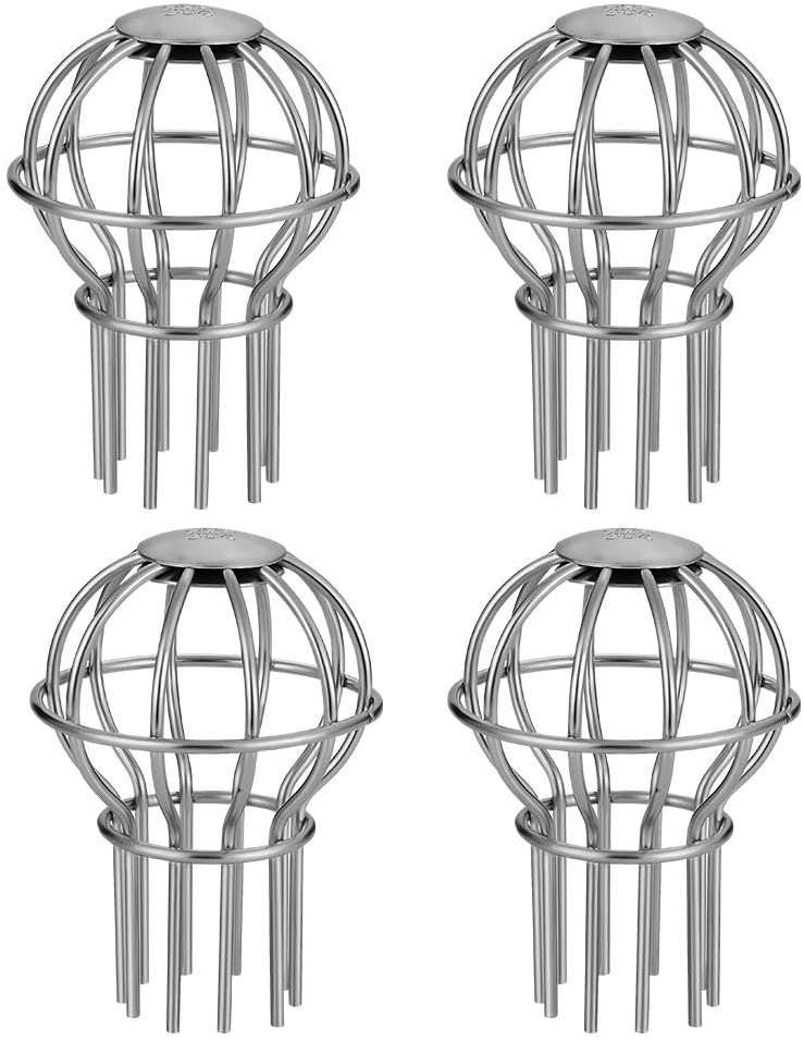 Gutter Guard 2 Inch 304 Stainless Steel Filter Strainer, Stops Leaves Seeds and Other Debris Gutter Cleaning Tool – 4 Pack