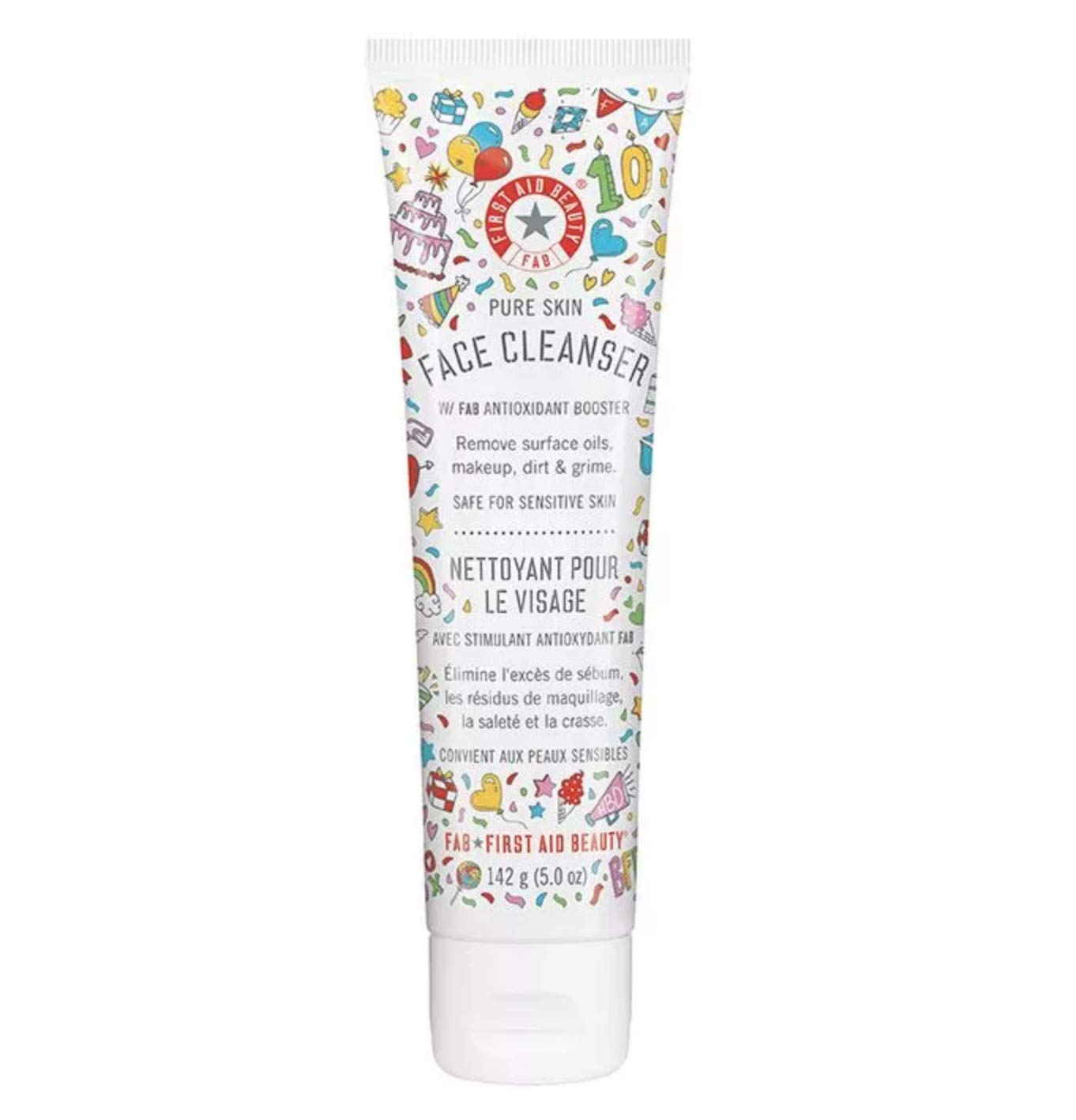 First Aid Beauty Pure Skin Face Cleanser, Limited Edition, 5 oz