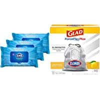 Clorox Disinfecting Wipes, Bleach Free Cleaning Wipes, Fresh Scent, Moisture Seal Lid, 75 Wipes, Pack of 3 with Kitchen…