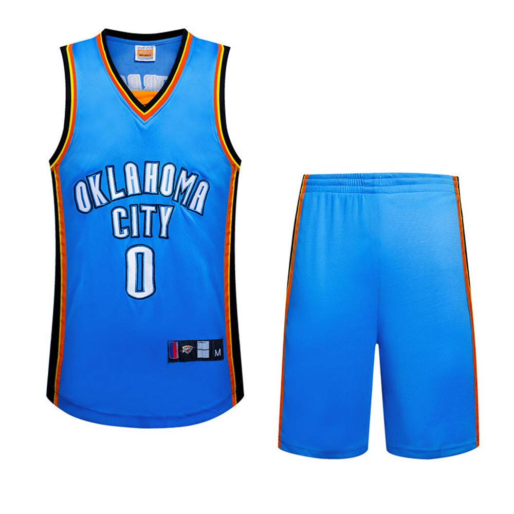 BUY-TO Donnermannschaft 0 Westbrook Jersey Basketball-Uniform Genähte Herren Shorts