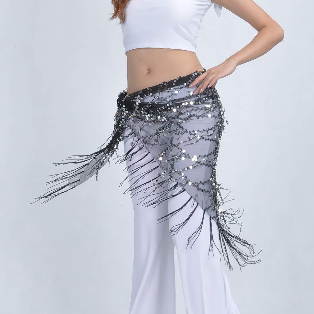 B Baosity Paillettes Brillantes Glands Ceinture Danse Orientale Belly Danse du ventre Accessoires Costume Danse