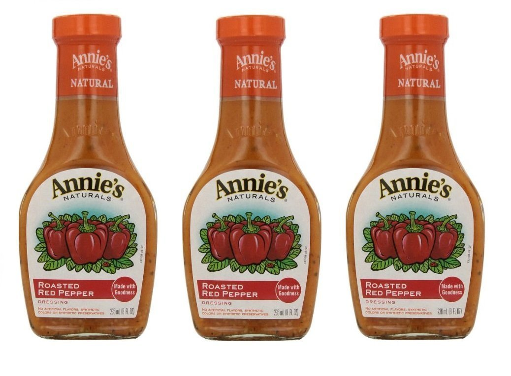 Annie`s Natural Dressing ,Roasted Red Pepper ,8 Fl oz, (Pack of 3)