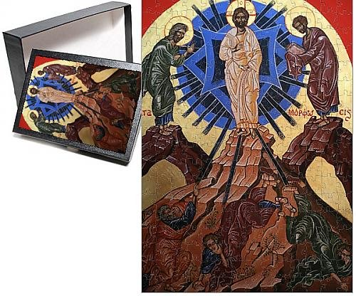 Photo Jigsaw Puzzle Of Icon Of Jesus S Transfiguration  Le Bec Hellouin  Eure  Normandy  France