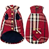 Plaid Dog Winter Jacket - Windproof Dog Clothes Warm Pet Coats for Cold Weather, Soft Fleece Vest for Small Medium Large…