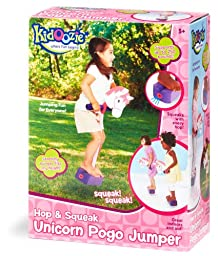 Kidoozie Foam Unicorn Pogo Jumper – Fun and Safe Play – Encourages an Active Lifestyle – Makes Squeaky Sounds – For All Sizes, 250 Pound Capacity