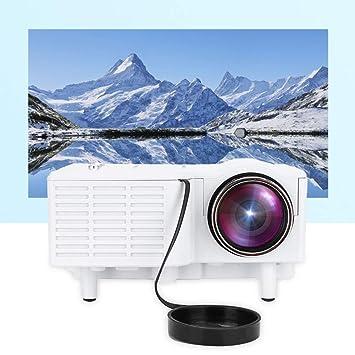 Bewinner Proyector portátil, HD 1080P LED Mini proyector de cine en casa con cable 400 Lux Compatible con HDMI / VGA / AV / USB / SD y enchufe de ...