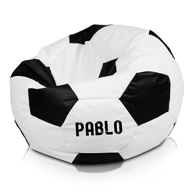 Idealpuf Puff Asiento con Forma de Pelota de fútbol XL ...