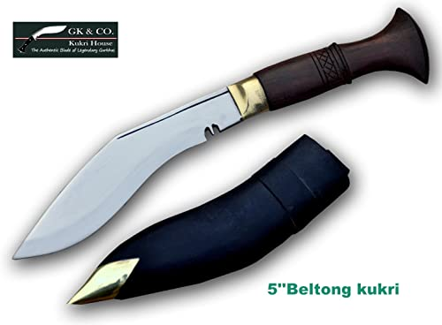 Genuine Gurkha Kukri – 5 Blade Biltong Wooden Handle Kukri- Handmade by GK CO.Kukri House in Nepal.