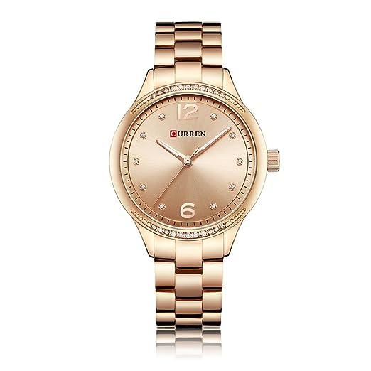 Bulary - Reloj de pulsera para mujer, correa de acero, impermeable, estilo casual