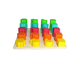 Mettendo il gioco formi mettere i giochi 210 x torre mettente 210 x 70 che mette il cubo che mette la scatola Hess-Spielzeug