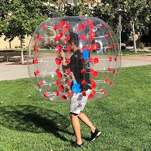 Human Hamster Ball, Inflatable Bumper Balls for Kids/Adults, Zorb Bubble Ball 5 FT, Knocker Bumper Balls W/Bag