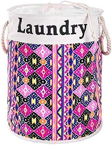 汚れた洋服バスケット東南アジアスタイルのランドリーバスケットビームポート寝室用バケットバケット大きなゴミ収納バッグ