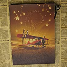 Fangeplus(TM) Le Petit Prince The Little Prince Desert Airplane Old Style Antique Decorative Poster Print Wall Coffee Shop Bar Decor Decals 19.7''x14.2''