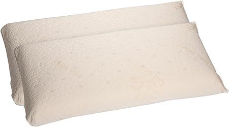 Dormio - Pack de 2 unidades, almohada viscoelástica transpirable ...
