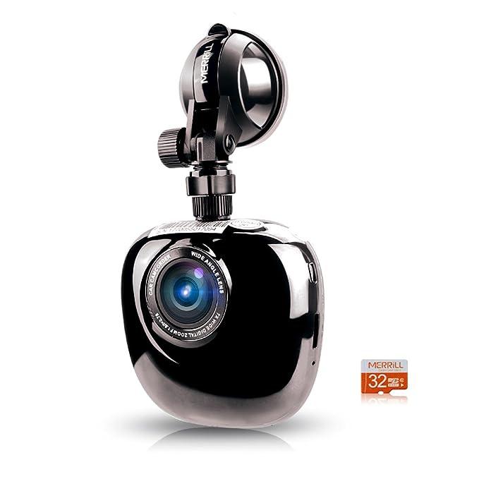 Merrill 1080P cam 170 ° Gran angular visión nocturna nuevo diseño Tarjeta de 15 megapíxeles y 32GB