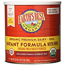 Earth's Best Organic Infant Formula with Iron, 23.2 Ounce (Pack of 4)
