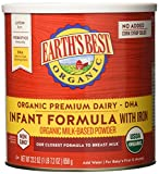 Earth's Best Organic Infant Powder Formula with Iron, Omega-3 DHA & Omega-6 ARA 23.2 Ounce, Pack of 4