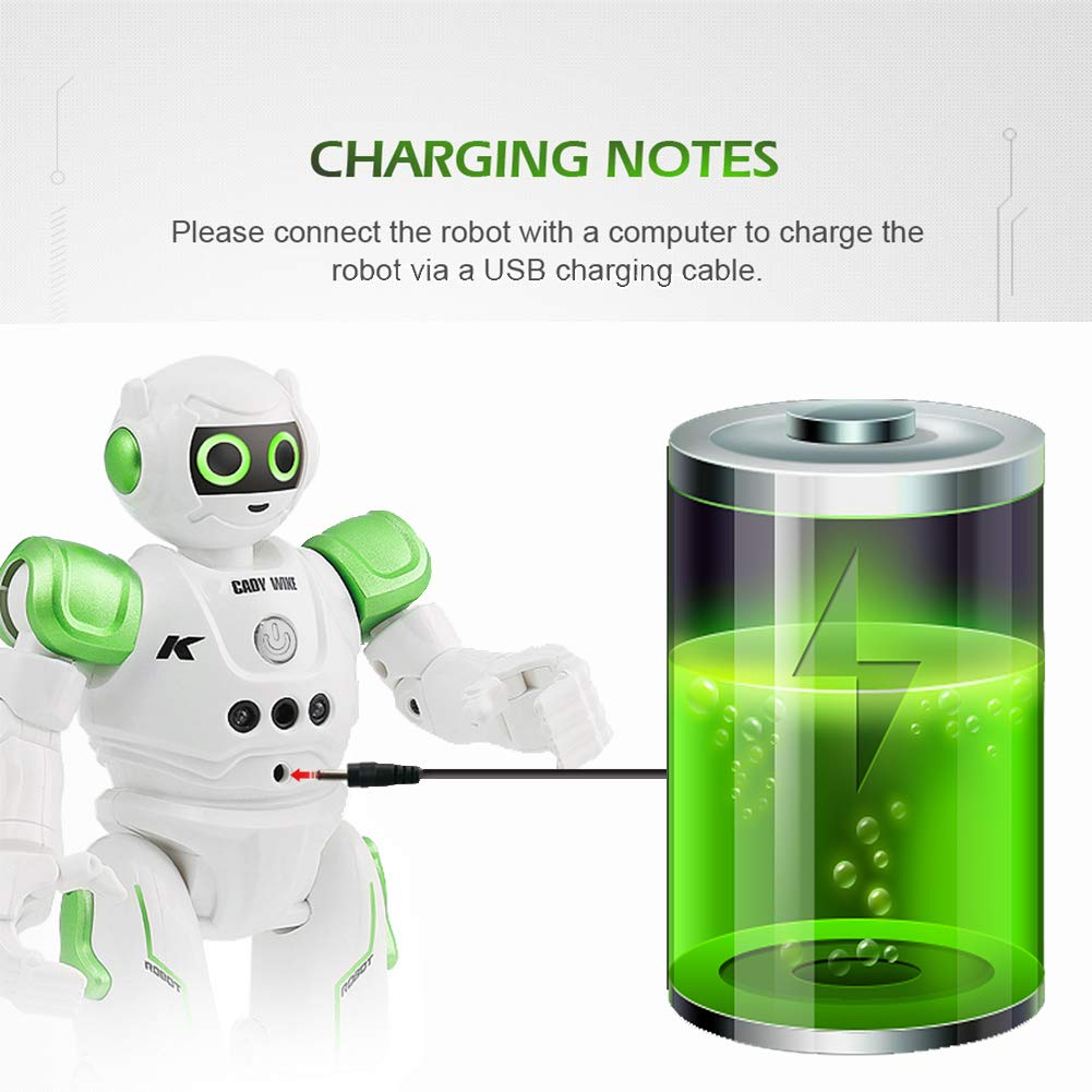 Yoego Remote Control Robot, Gesture Control Robot Toy for Kids, Smart Robot with Learning Music Programmable Walking Dancing Singing, Rechargeable Gesture Sensing Rc Robot Kit (Green) by Yoego (Image #5)