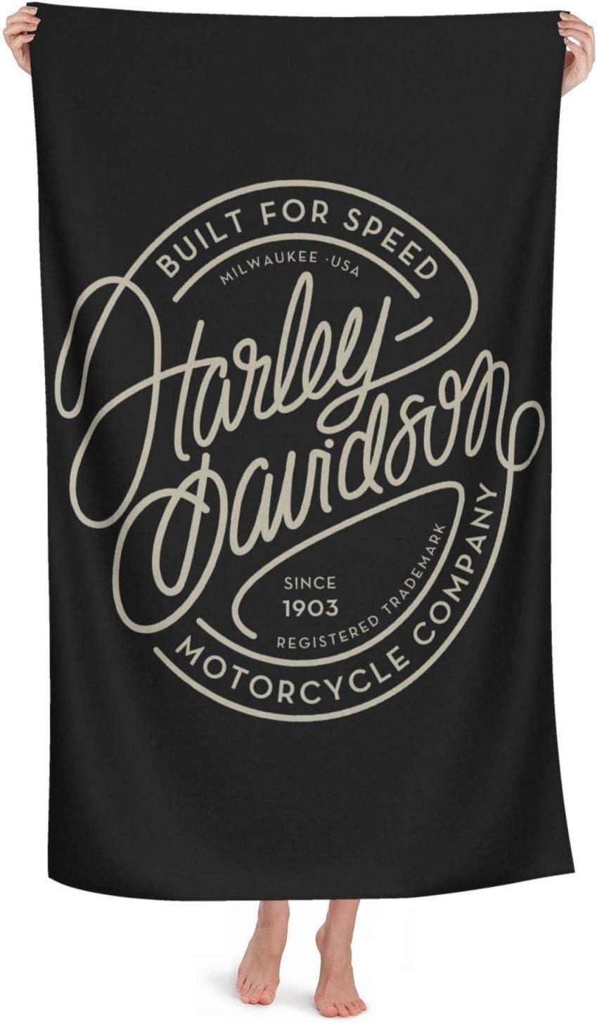 ad asciugatura rapida morbido grande adulti Harley Davidson assorbente per donne nuoto telo mare oversize in cotone spesso